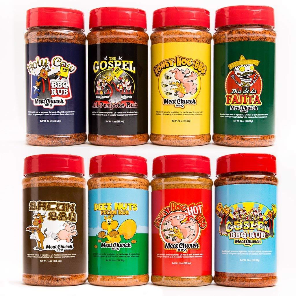 Meat Church Complete Package (Includes Gospel, Holy Gospel, Holy Cow, Honey Hog, Honey Hog Hot, Bacon, Fajita, Deez Nuts)