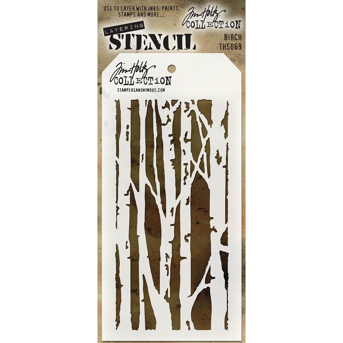 Stampers Anonymous THS069 Tim Holtz Layered stencil,, 4.125 x 21,6 cm Art Gone Wild AGTHS069
