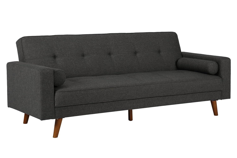 amazon com dhp sunset hills futon mid century design with tufted