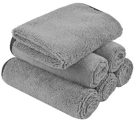 KinHwa Bayeta de Limpieza Toallas de Lavado de Coches Absorbente Bayeta de Limpiez Perfecto Para Limpiar