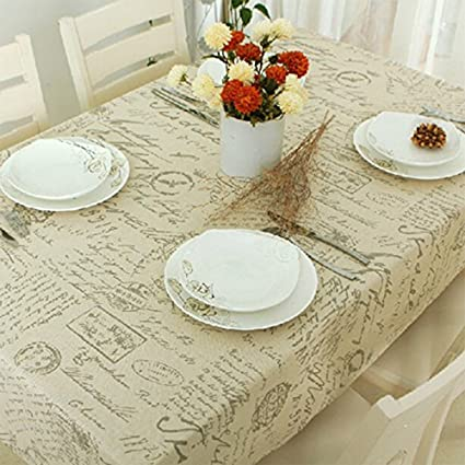 Amazon SiYANG Cloth Cotton Linen Tablecloth Living Room Table Cover Alphabet Shads23x23In Home Kitchen
