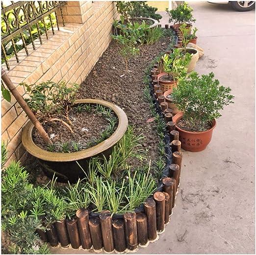 ZHANWEI Valla de jardín De Madera Estaca Redonda Bordura de jardín Balcón Al Aire Libre Patio Cercado De La Frontera, 8 Tamaños (Color : Brown, Size : 90x25/30cm): Amazon.es: Jardín