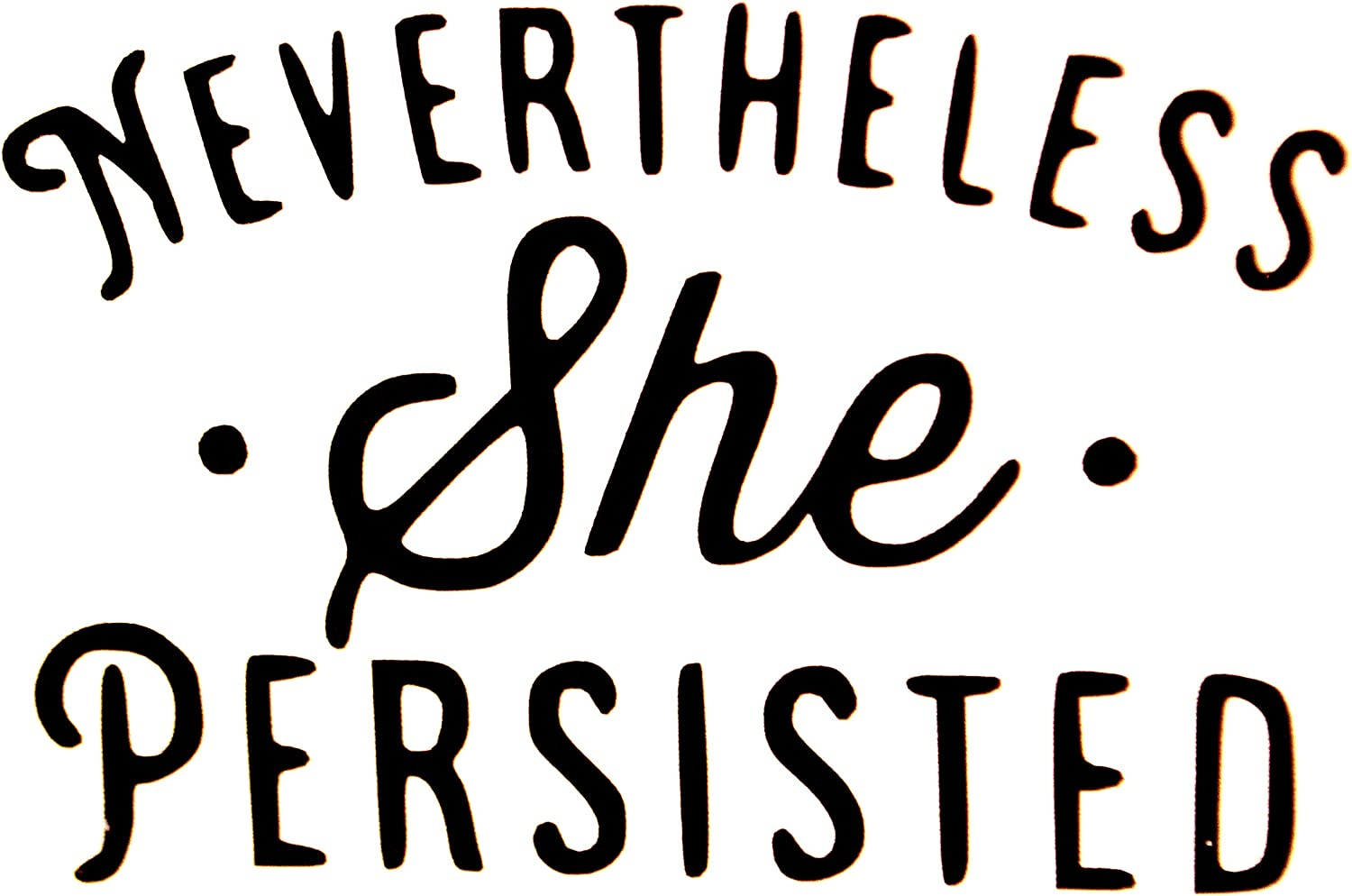 Black 3.5 X 2.5 inch SSND ,Vinyl Decal Sticker Nevertheless SHE Persisted