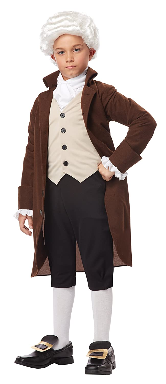 California Costumes Colonial Man/Benjamin Franklin Child Costume, Medium
