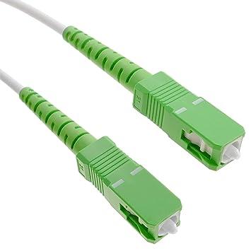 BeMatik FK85-VCES - Cable de Fibra óptica SC/APC a SC/APC