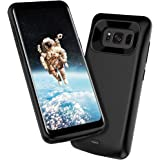 Galaxy S8 Plus Battery Case ALCLAP 5500mAh Portable Charger Type C Extended Battery Pack Juice Bank Cover Charging Case for Samsung Galaxy S8 Plus Black