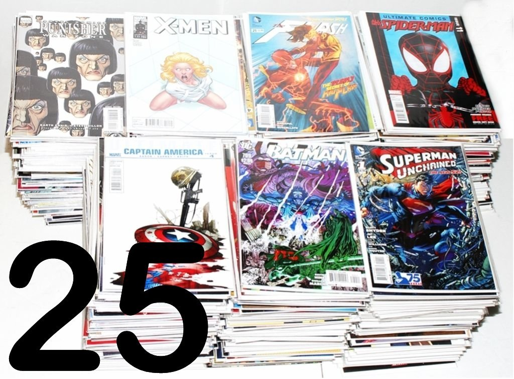 HUGE COMIC BOOK LOT 25 MARVEL DC INDY SUPERMAN BATMAN X-MEN NO DUPLICATES - Hot choice