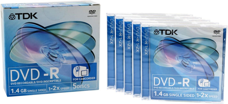 TDK Mini de DVD-R (Pack de 1.4gb, 2 x Speed): Amazon.es: Informática