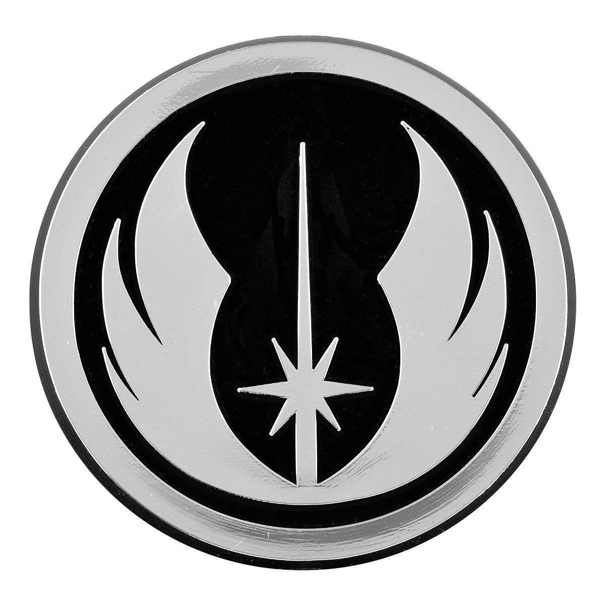 3 x 3 EvolveFISH EF-EMB-P-00074 Jedi Order Logo Chrome Auto Emblem