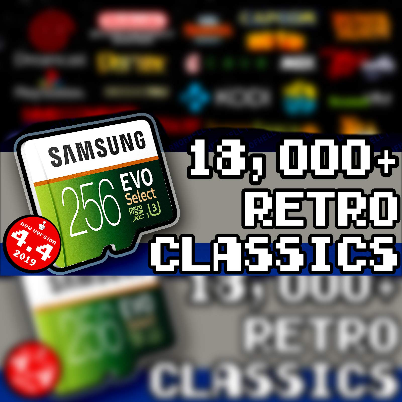 256 GB Retropie 4.4 SD Card - Loaded Collection with Video Previews & 3D Boxart by Retropie