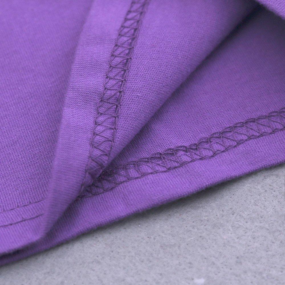 Summer Pajama Sets For Kids Girls,Baby Girls Cotton Tee Tops + Pajama Pants Girls Homewear Set(Purple,3 Years) by Wesracia (Image #7)