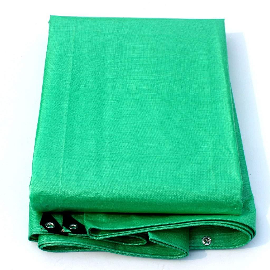 キャンプトラックカバー多目的グリーン防水シート500×700センチ用肥厚PE防雨布防水ターポリン紫外線保護 (色 : 400×600cm)  400×600cm B07Q2WJ9RJ