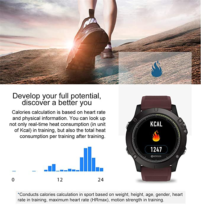 BOBOLover Reloj Deportivo,Reloj Inteligente Pulsera de Actividad Inteligente Reloj Digital Reloj Automatico GPS Pulsómetro Monitor de Ritmo Cardíaco ...