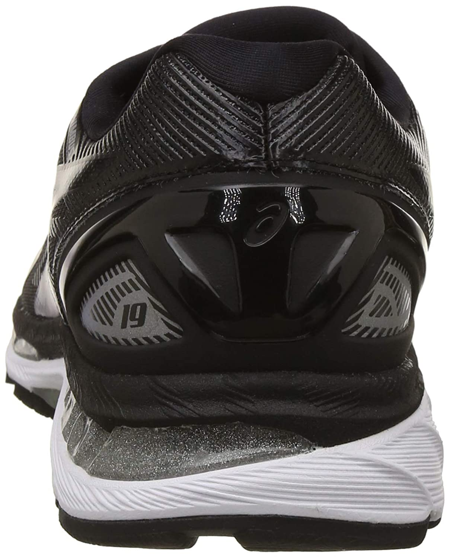 sports shoes 27caa 9b6d4 ASICS Men's Gel-Nimbus 19 (4E) Black/Onyx/Silver Running ...