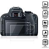 BlueBeach® Paquet de 2 Protection d'écran Protecteur en verre trempé pour Canon EOS 77D DSLR (0.3mm 2.5D 9H Dureté)