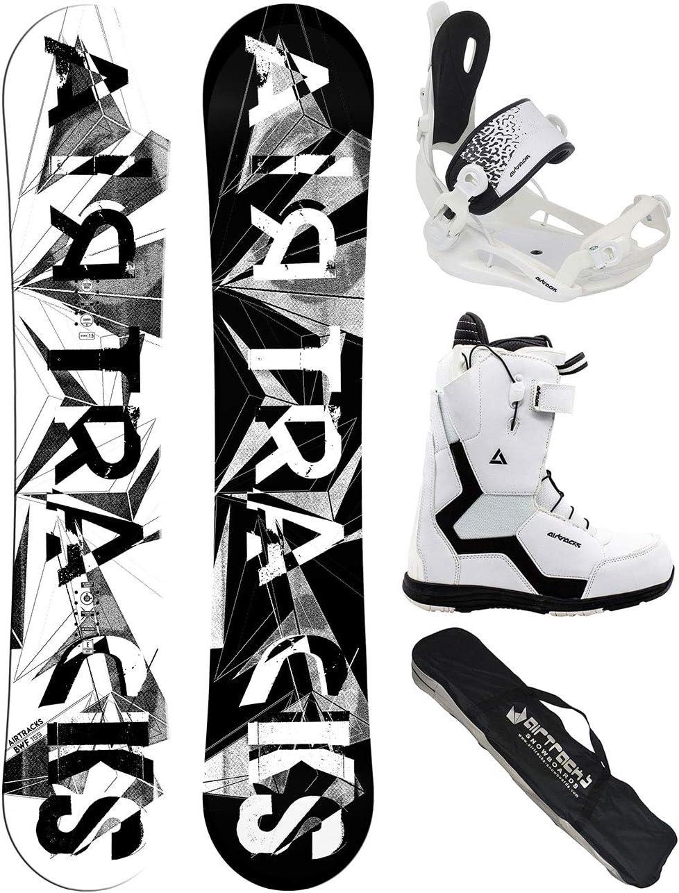 Snowboard Bindung Master Fastec Sb Bag // 140 145 150 155 cm Airtracks Damen Snowboard Set//BWF Lady Snowboardboots