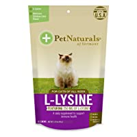 L-Lysine Chews for Cats, Immune and Respiratory Support Supplement, 60 Bite Sized...