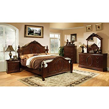 247SHOPATHOME Velda English Style Warm Cherry-Finish 6 Teiliges ...