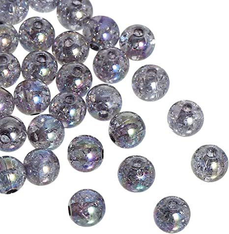 """15 Strands Purple AB Color Faceted Ball Glass Crystal Loose Beads 4mm Dia 1//8/"""""""