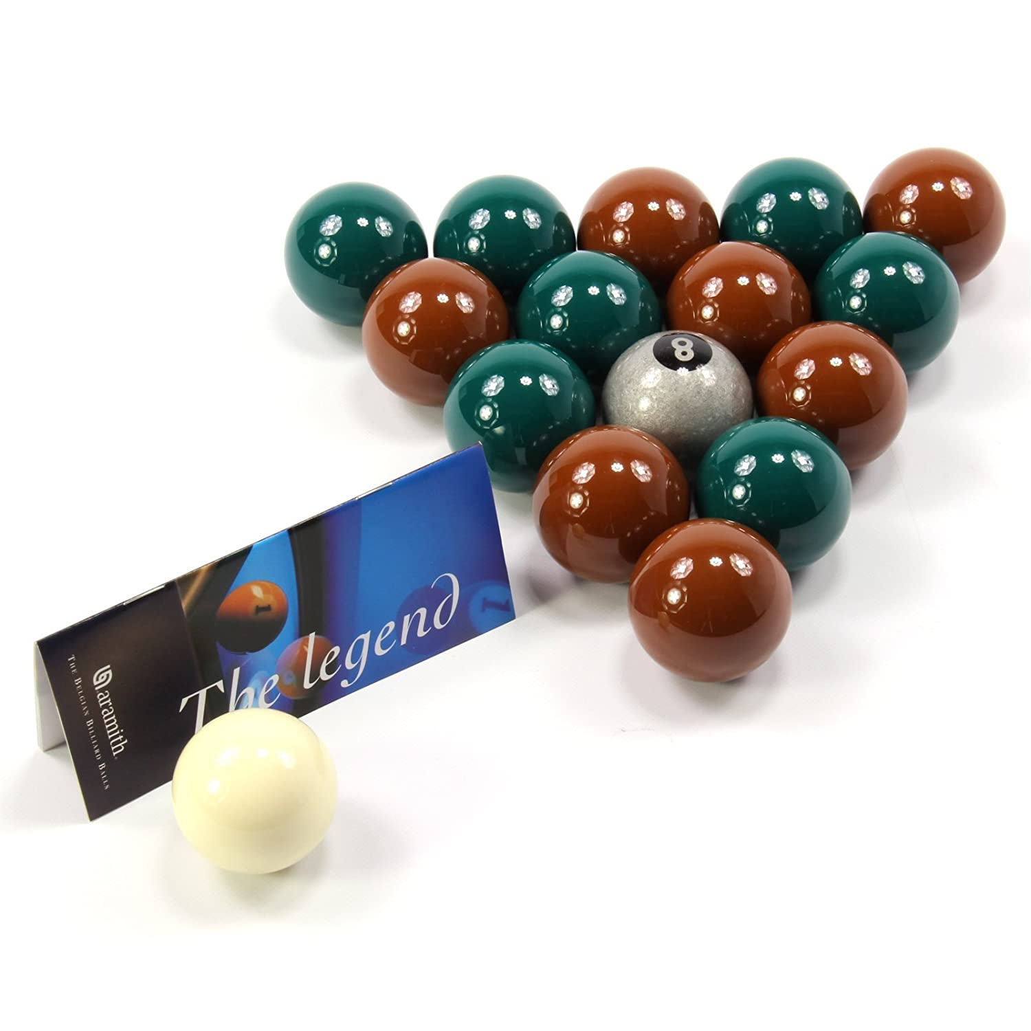 EXCLUSIVE! Aramith Premier SILVER 8 BALL Edition GREEN & BROWN Pool Balls by Aramith