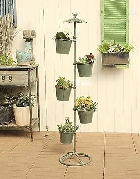 ZENGAI Hierro Rotary Flower Stand/Piso Decoración Pequeña Flor Marco Jardín Terraza Mobiliario de interior
