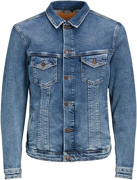 JACK /& JONES Giacca di Jeans Uomo