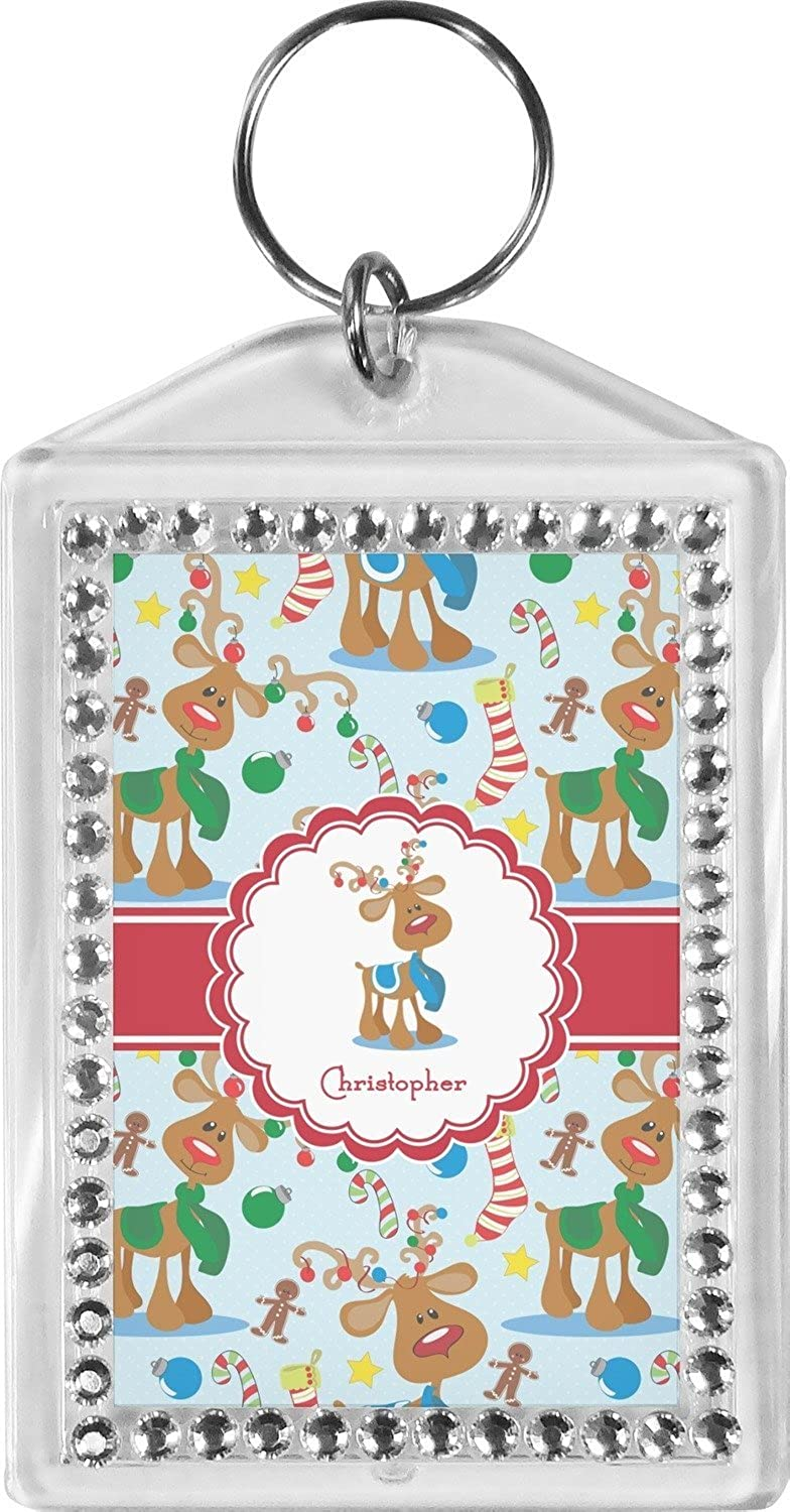 Reindeer Bling Keychain (Personalized)