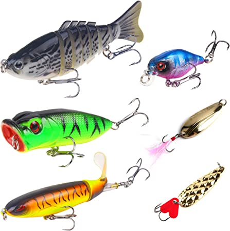 Details about  /1*Fishing Bass Lures Multi Jointed Swimbaits 4inch Slow Sinking Hard Lure Tackle