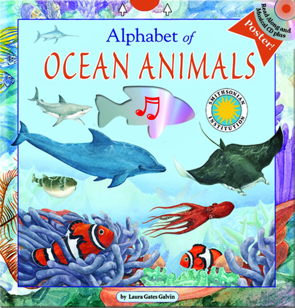 Alphabet of Ocean Animals - A Smithsonian Alphabet Book (with audiobook CD and poster) (Alphabet Books) by Soundprint