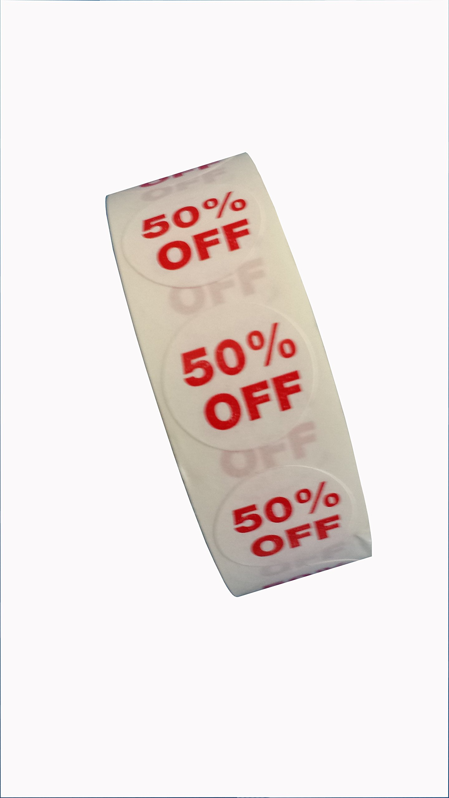 50% Off Dots, 3/4'' Adhesive Labels (1000) for Labeling Sale Items