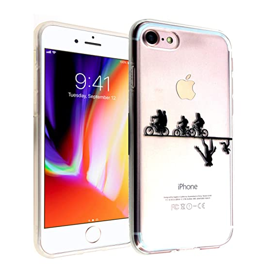 new arrivals 9029e 43d39 Amazon.com: iPhone 7 8 CASEMPIRE Stranger Things Bicycle TPU Case ...