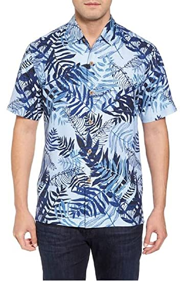 4ccbaec4ff Tommy Bahama Glade Tropics Silk Camp Shirt (Color Fresh Air