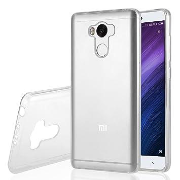 Funda Xiaomi Redmi 4 Prime , Leathlux Trasparente Suave TPU Carcasa Protector Bumper Tapa Claro Flexible Silicona Gel Ultra Delgado Cubierta para Xiaomi Redmi 4 Prime 5.0