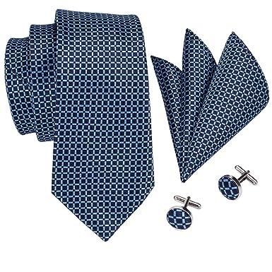 Barry.Wang - Juego de corbata para hombre, diseño de cuadros y ...