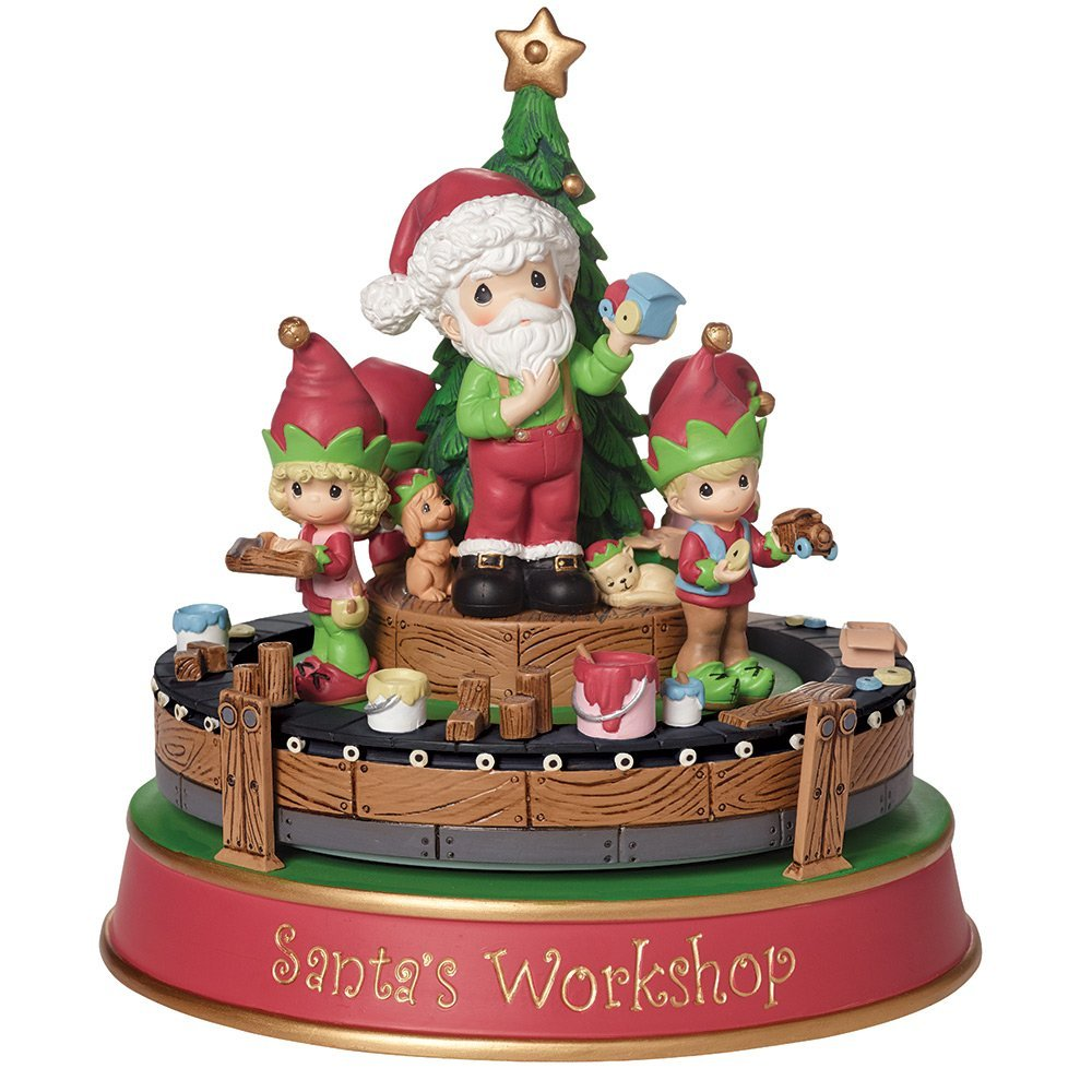 Precious Moments Christmas Gifts Santas Workshop Deluxe Music Box gift ideas 1 year old girls