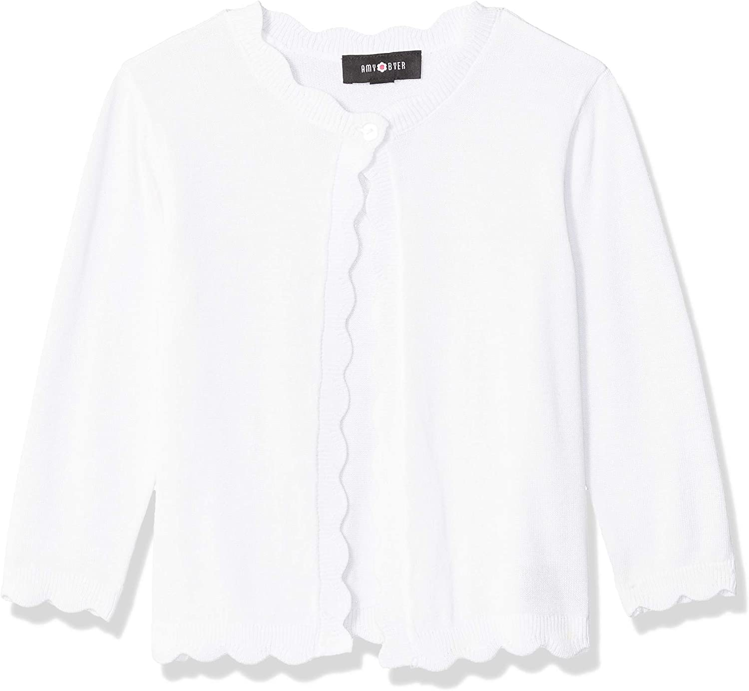 Cardigan Clothing, Shoes & Jewelry Amy Byer Girls Scalloped
