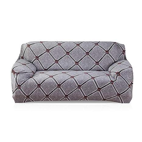 Fashion·LIFE 3-Plaza Funda de Sofá Elástica Suave Protector para Sofás Cubre Sofá sofá Cubierta Floral Print Funda para Sofá de Sala,Troy