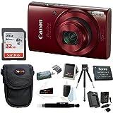 Canon PowerShot ELPH 190 IS 20 MP Digital Camera (Red) w/ 32GB Accessory Bundle