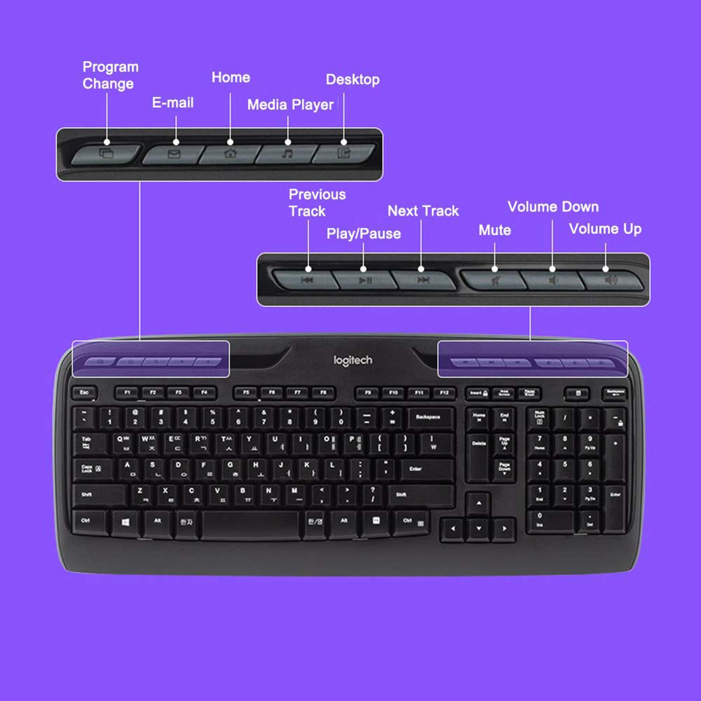 993b9846984 Logitech MK330 Wireless Combo Keyboard and Mouse, USB, Long Battery Life,  Compatible with Windows and Chrome OS - QWERTY UK Layout - Black:  Amazon.co.uk: ...