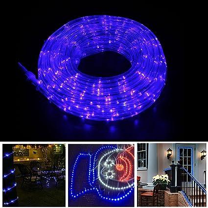 rope lights christmas decoration light 8 modes 50ft 375leds blue landscape lighting dancing party