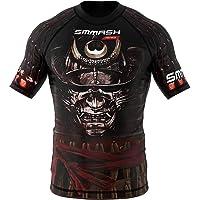 SMMASH Samurai Rashguard Niño Manga Corta, Camisetas para MMA, Artes Marciales, Deportivo Niño Camiseta, Krav Maga, K1…