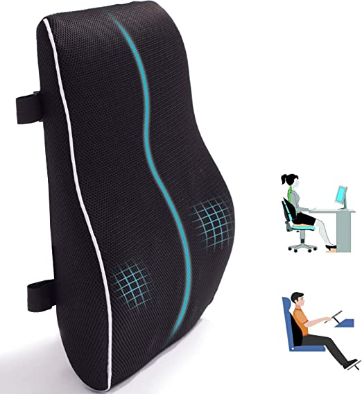 Qutool Lumbar Support Pillow for Office Chair Car - Best Shape Retainment