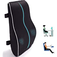 Lumbar Support Pillow for Office Chair Car Memory Foam Back Cushion for Back Pain Relief Improve Posture Large Back…