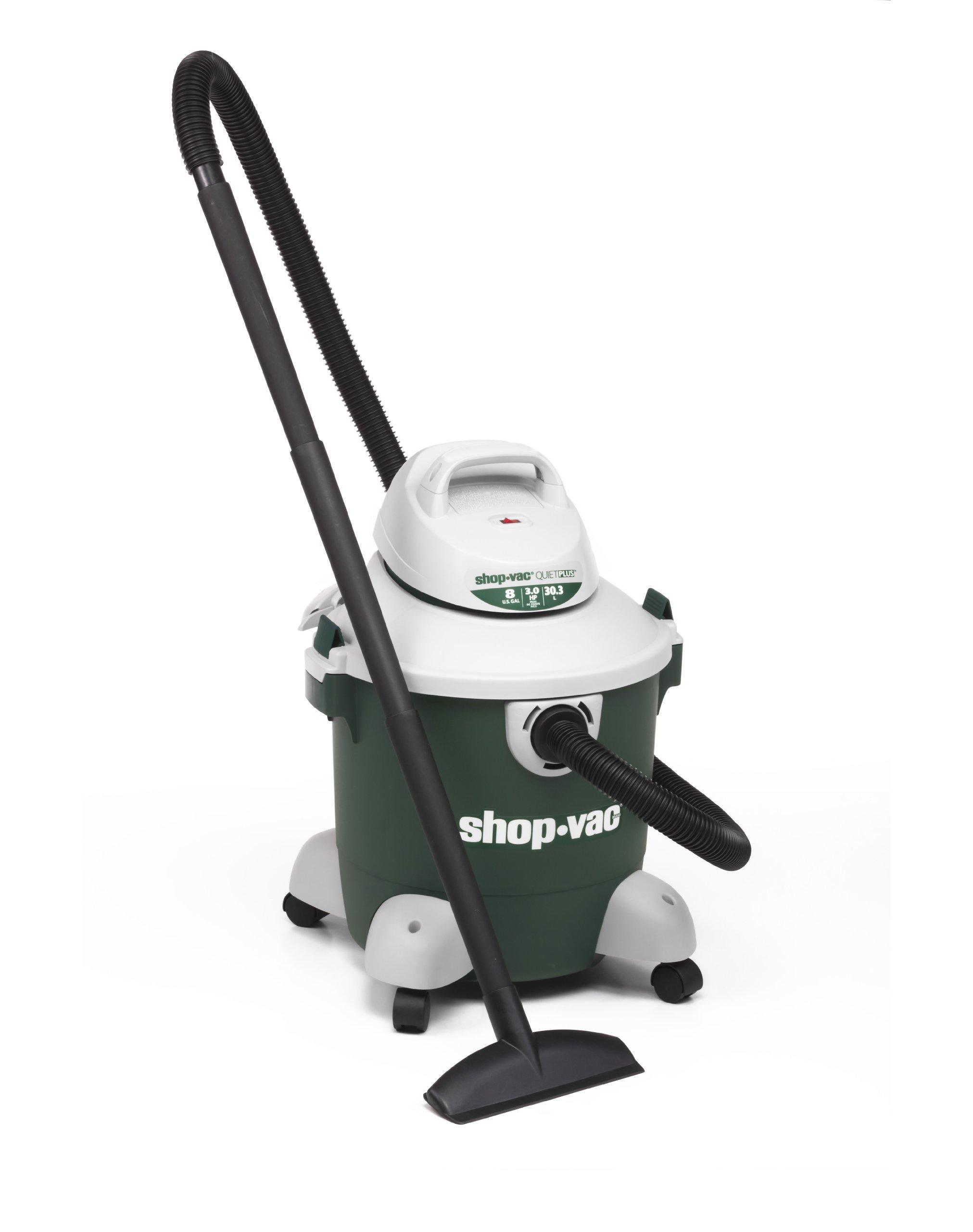 Shop-Vac 5980800 8-Gallon 3.0 Peak HP Quiet Plus Series Wet Dry Vacuum