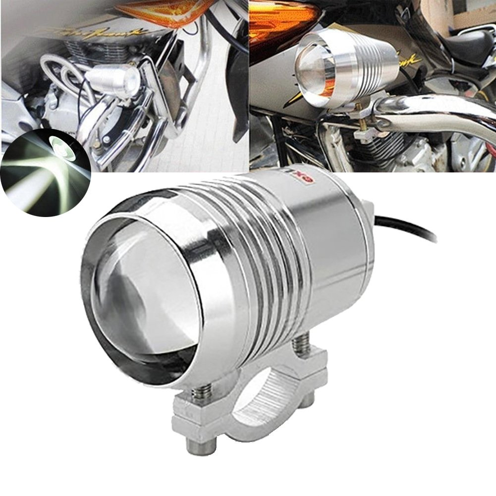 TUINCYN U3 Motorcycle LED Lamp Motor Headlight Spot Lights Bulb Waterproof 6000K White Light Universal Motorbike Running Working Beam Light Projector Daymarker LED Bulb (Pack of 2)