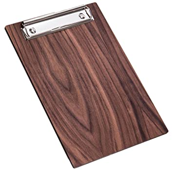 Kaltner Präsente Clipboard Wood Walnut Coated Ideal As A