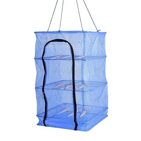 Amazon.com: FINLON Rack de secado plegable 4 capas de malla ...