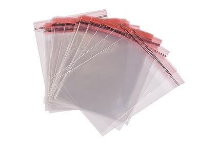 500 Bolsas De Celofán Transparent Que Uno Mismo Sellar Con Tapa Peel & Seal bolsas tamaño 8 cm x 12 cm + 3 cm solapa