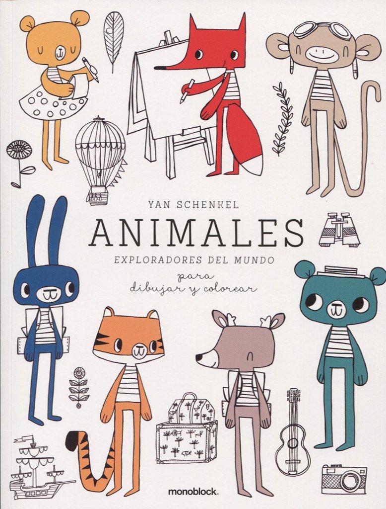 Animales Exploradores Del Mundo Para Dibujar Y Colorear: Amazon.es ...