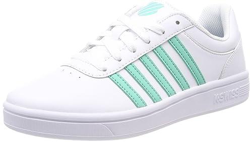 K-Swiss Court CHESWICK, Zapatillas para Mujer, Blanco (White/Bermuda 173), 42 EU: Amazon.es: Zapatos y complementos